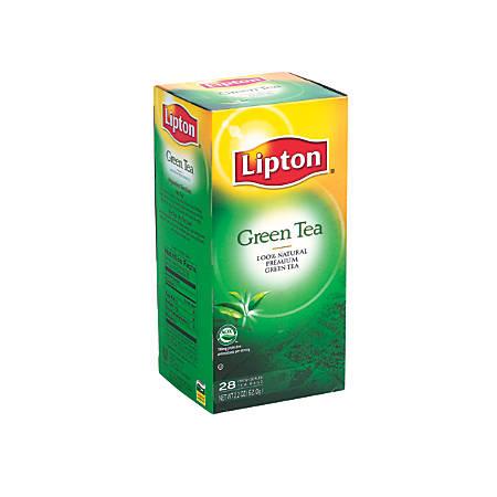 Lipton Green Tea Bags, Box Of 28