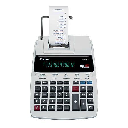 Canon P180-DH 12-Digit Desktop Printing Calculator Combo