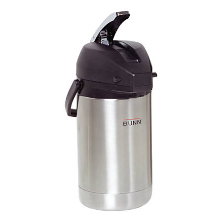 Bunn Stainless Steel Lever-Action Airpot, 2.5-Liter Capacity