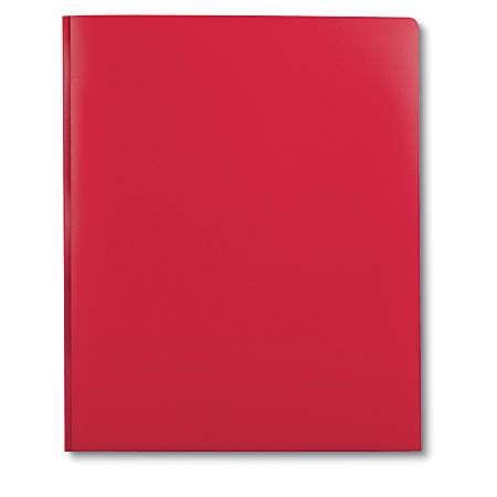 "DiVOGA 2-Pocket 3-Prong Report Cover, 8 1/2"" x 11"", 1/2"" Capacity, Red"