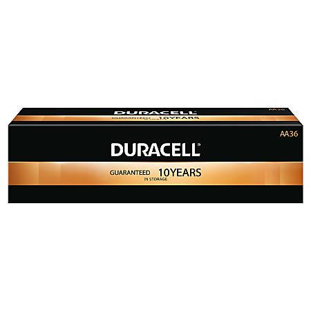 Duracell® Coppertop Alkaline AA Batteries, Box Of 36 Batteries