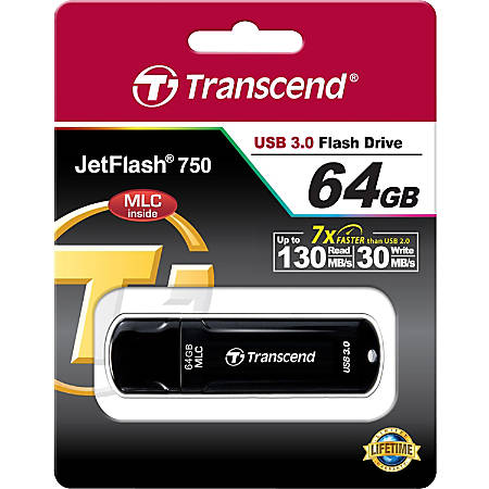 Transcend 64GB JetFlash 750 USB 3.0 Flash Drive