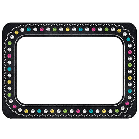 "Teacher Created Resources Chalkboard Brights Name Tags, 3 1/2"" x 2 1/2"", Multicolor, Pack Of 180"