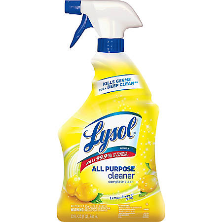 Lysol All-Purpose Cleaner, Lemon Scent, 1 Quart