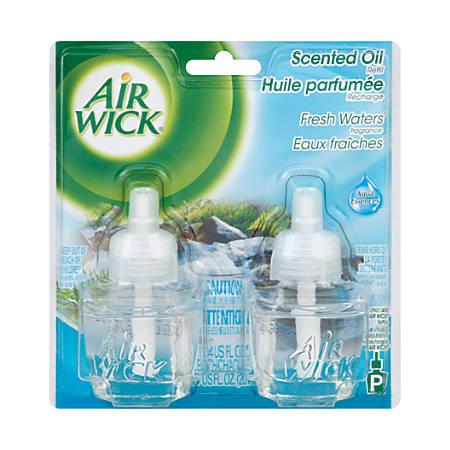 Air Wick Scented Oil Warmer Refills, Fresh Waters, 1.34 Oz, Pack Of 2 Warmers