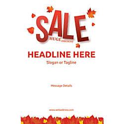 Custom Vertical Poster Autumn Leaves 1