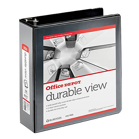 Office depot brand view d ring binder 3 rings 39percent for Depot ringcenter