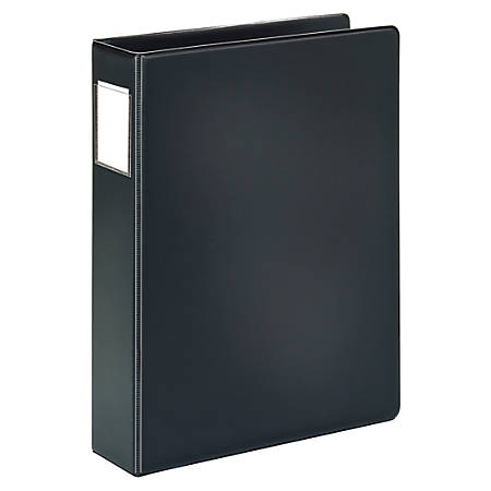 """Office Depot® Brand Durable Legal-Size Reference Binder, 2"""" Rings, 100% Recycled, Black"""