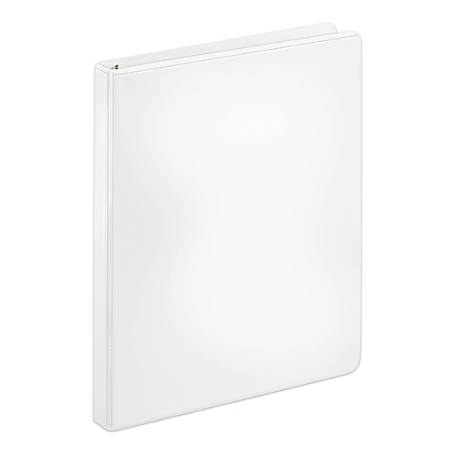 "[IN]PLACE® Heavy-Duty Nonstick View Binder, 1/2"" Rings, 40% Recycled, White"