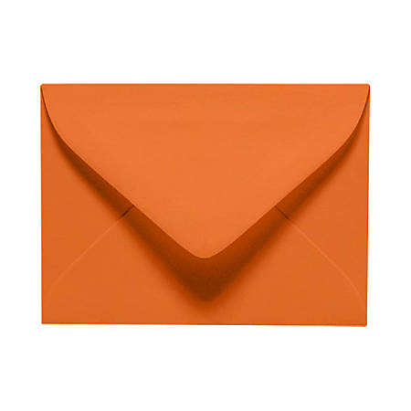 "LUX Mini Envelopes With Moisture Closure, #17, 2 11/16"" x 3 11/16"", Mandarin Orange, Pack Of 50"