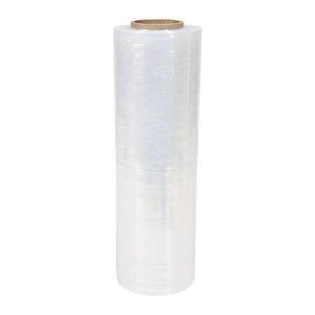 """OfficeMax® Brand Stretch Wrap, 80 Gauge, 18"""" x 1,500', Clear, Pack Of 4"""