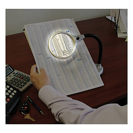 "Ultra-Optix LED 2x/6x Desktop/Tabletop Magnifier, 4"""
