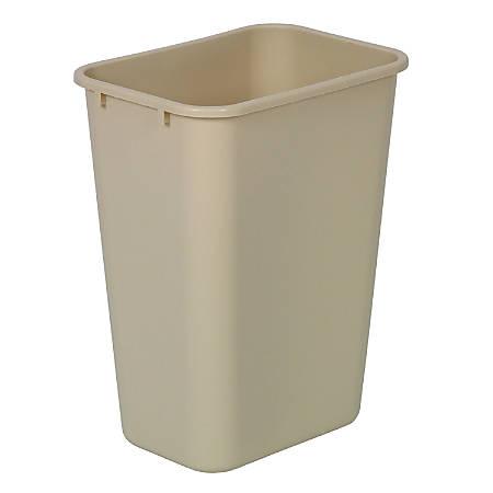 Highmark™ Standard Wastebasket, 10 1/4 Gallons, Beige