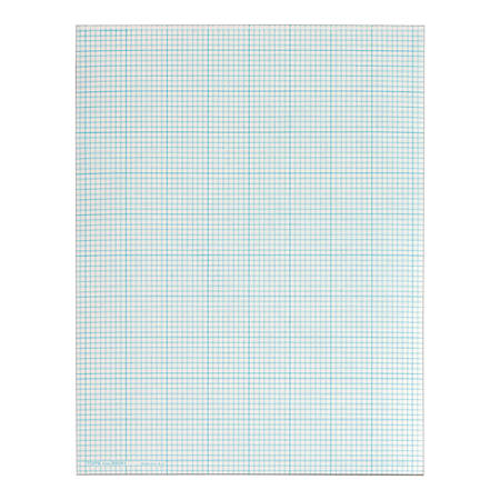 """TOPS™ Cross-Section Pad, 8 1/2"""" x 11"""", 50 Sheets, White"""