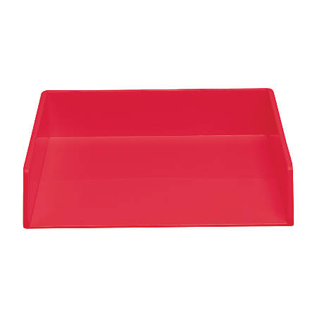 "MadeSmart Letter Tray, 12 5/8""H x 10 1/2""W x 2 3/8""D, Red"