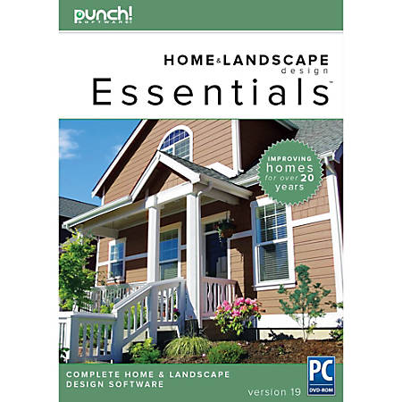 Punch essentials v19 for pc download version by office for Punch home landscape design with nexgen technology