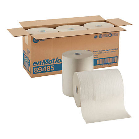 """enMotion® Paper Towel Roll by GP PRO, 10"""" x 800', 100% Recycled, Brown, Case Of 3 Rolls"""