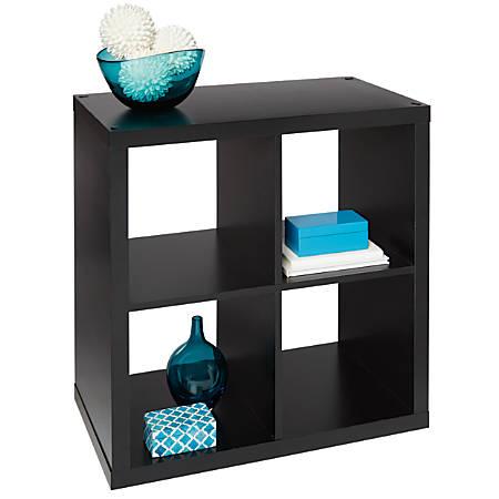 Brenton Studio® Cube Bookcase, 4-Cube, Small, Black