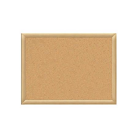 """Oak Finish Cork Board, 3"""" x 5"""""""