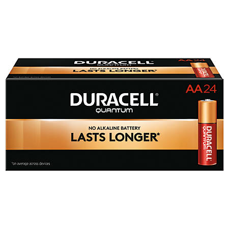 Duracell® Quantum Alkaline AA Batteries, Pack Of 24, Case Of 6