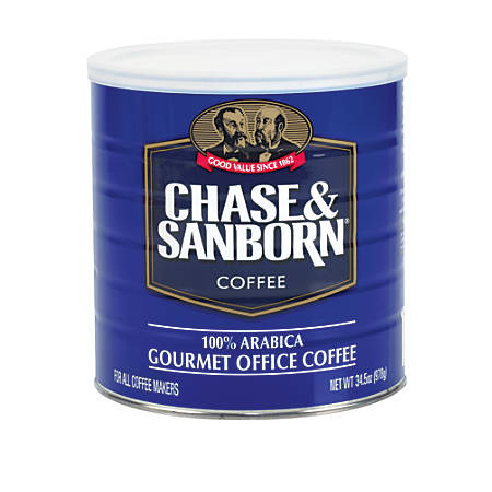 Chase And Sanborn Coffee, 34.5 Oz Can
