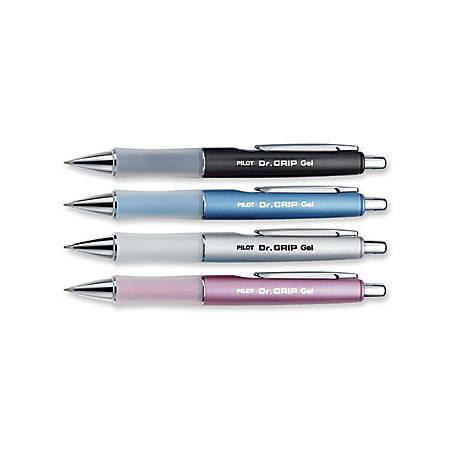 Pilot Dr. Grip Retractable Gel Rollerball Pens - Fine Pen Point - 0.7 mm Pen Point Size - Refillable - Black Gel-based Ink - Assorted Barrel - 1 Each