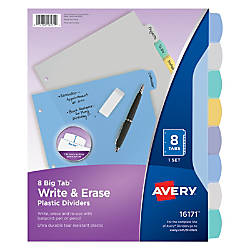 Avery Durable Write On Plastic Dividers