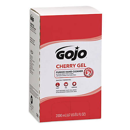 Gojo® Gel Pumice Hand Cleaner, Cherry, 2,000 Ml, Case Of 4