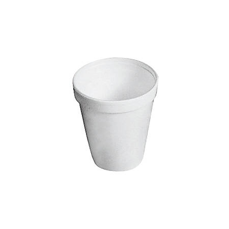 Dart® Insulated Foam Drinking Cups, White, 8 Oz, Bag Of 25