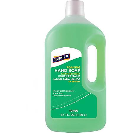 Genuine Joe Foaming Hand Soap Refill - Kill Germs - Hand - Green - Bio-based, Moisturizing, Rich Lather, Pleasant Scent - 4 / Carton