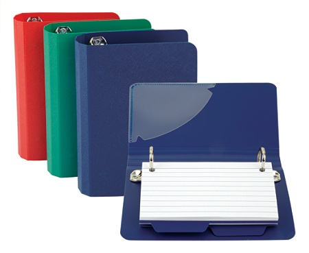 Oxford® Index Card File Binder, 50 Card Capacity, Assorted Colors Item # 1393930