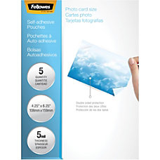 Fellowes Self Adhesive Pouches Photo 5mil