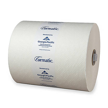 """Cormatic Hardwound Roll Towels, 8 1/4"""" x 702', Carton Of 6"""
