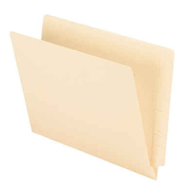 Office Depot Brand 2 Ply End Tab Folders Letter Size Straight Cut