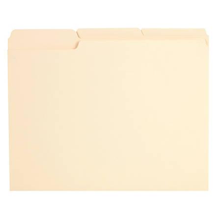 Office Depot® Brand Reinforced File Folders, 1/3-Cut Tabs, Letter Size, Manila, Box Of 100