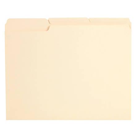 Office Depot® Brand Reinforced File Folders, 1/3-Cut Tabs, Legal Size, Manila, Box Of 100