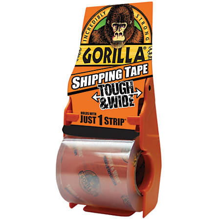 "Gorilla® Shipping Tape, 1"" Core, 3"" x 36 yd., Clear"