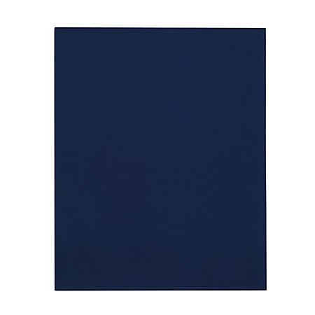 Office Depot® Brand Secure Top 2-Pocket Folders, Blue, Pack Of 10