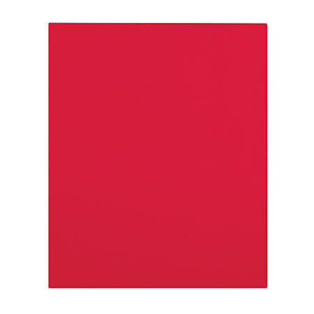 Office Depot® Brand Secure Top 2-Pocket Folders, Red, Pack Of 10