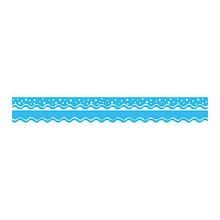 "Barker Creek Scalloped-Edge Double-Sided Borders, 2 1/4"" x 36"", Pool Blue, Pack Of 13"