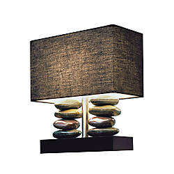 Elegant Designs Stacked Stone Ceramic Table