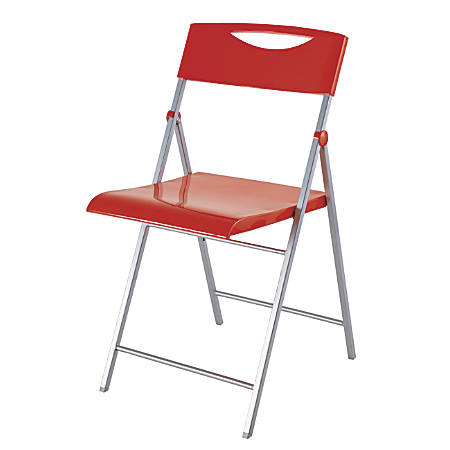 Alba CPSMILE Chair, Red, Set Of 2