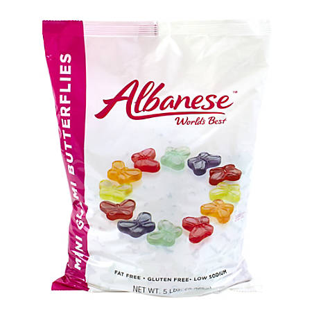 Albanese Confectionery Gummies, Mini Gummy Butterflies, 5-Lb Bag