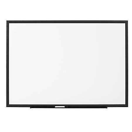 "FORAY™ Magnetic Dry Erase Board, 72"" x 48"", Jet Black"