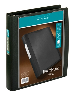 office depot brand everbind view binder with one touch easyopen
