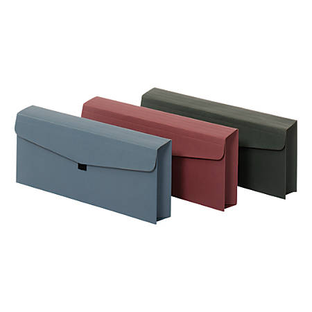 """Office Depot Envelope With Hook-And-Loop Closure, Check Size, 5 1/4"""" x 10"""", Assorted Colors"""