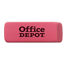 Office Depot Brand Pink Bevel Erasers