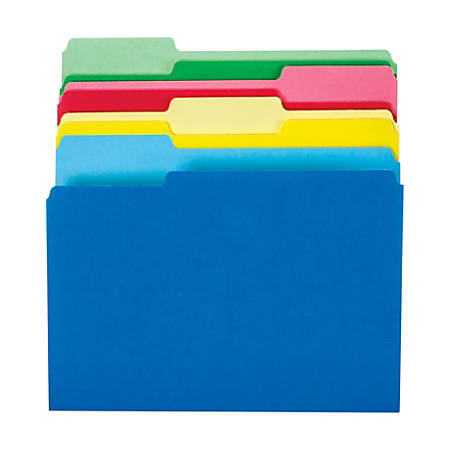 Office Depot® Brand File Folders, Letter Size, 1/3 Cut, Assorted Colors, Pack Of 24