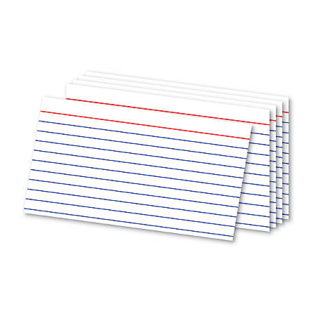 "Office Depot® Brand Ruled Index Cards, 3"" x 5"", White, Pack Of 300"