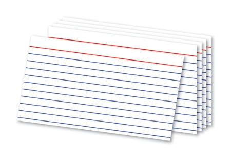 This is an image of index cards